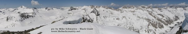 view looking west from Black Giant Summit - Sierra