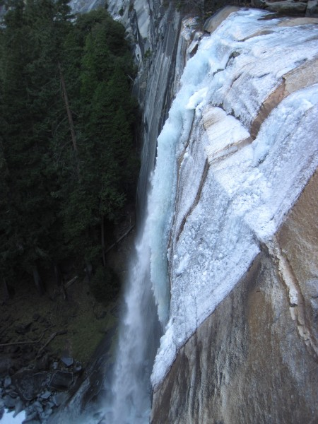 Open water coming off Vernal Falls (12/27/11).
