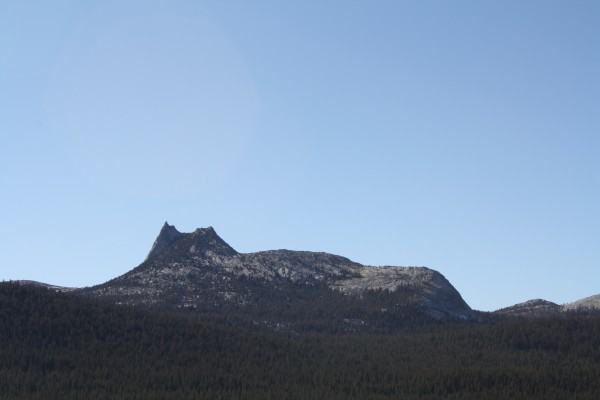 Cathedral Peak, almost snow-free! - January 9th, 2012