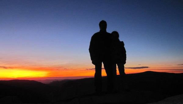 Half Dome summit sunset, 12/30/11