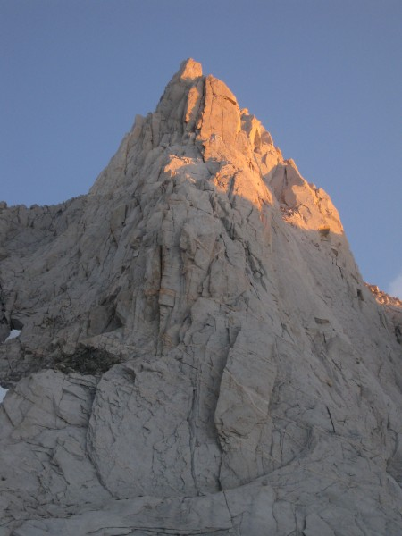 Bear Creek Spire at sunset