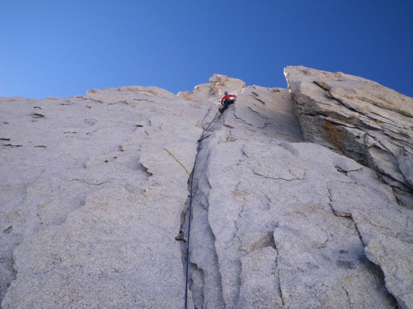 1st pitch on North arete of BCS