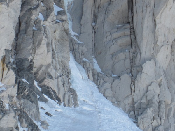 Mt. Dade NE couloir with ice showing