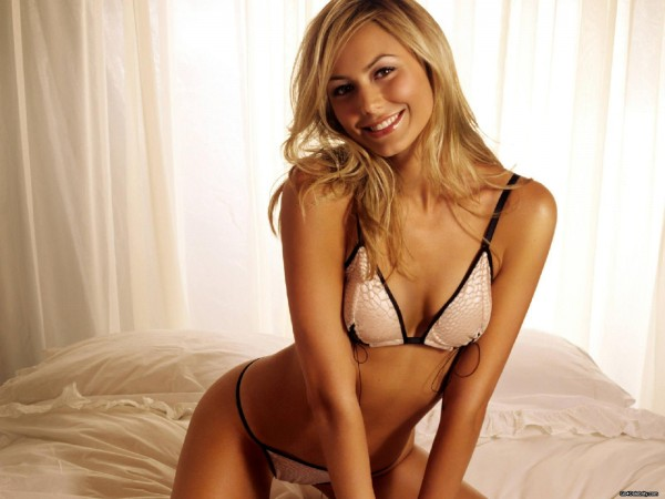 Former professional wrestler Stacy Keibler.