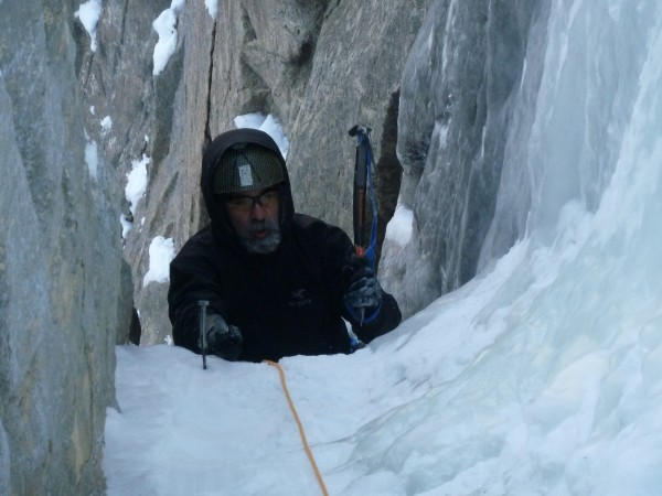 Ed on 2nd pitch of Ames Ice Hose