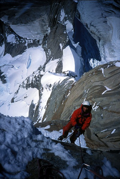 The late Charlie Fowler on our way up the Compressor Route. RIP. Inter...