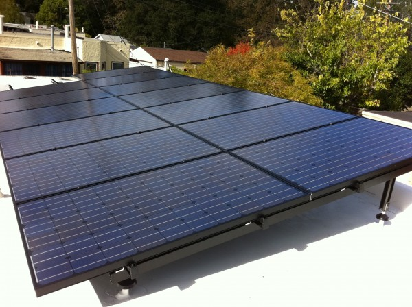 Solar panels at Chris Mac's house