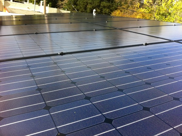 Sharp solar panels on our house.