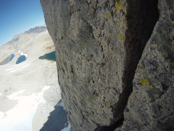 looking back down while seconding, what a pitch!