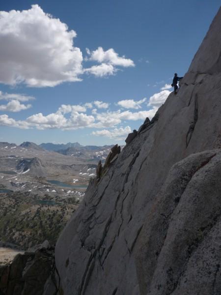 super classic ridge traversing took us to the true summit