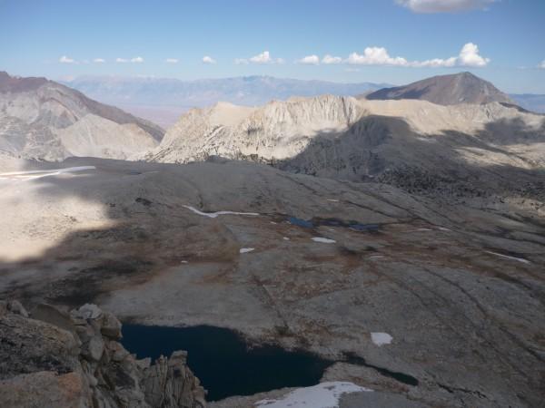 view east from the summit of Merriam peak