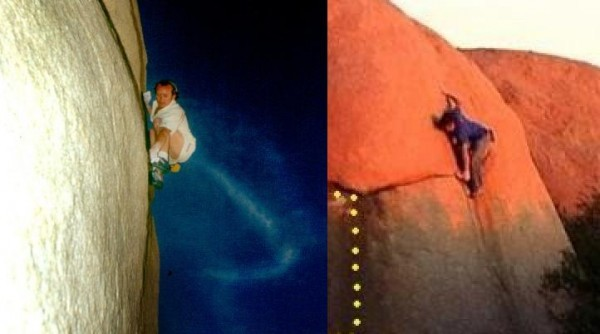 Left: Way, way vert.  Right: sleepytime slabness.