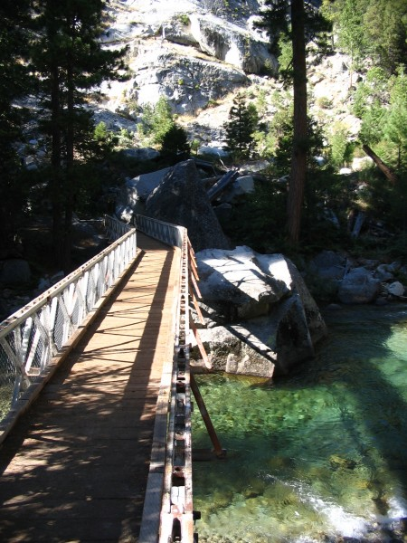 Bailey bridge, South Fork of the Kings