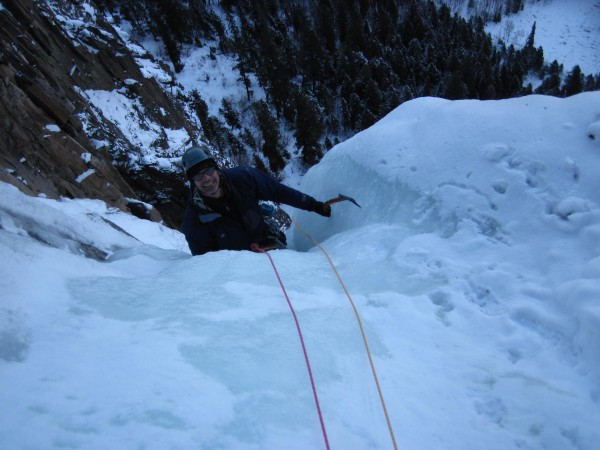 The Ames Ice Hose - Frank on the 3rd pitch which was wonderfully steep...