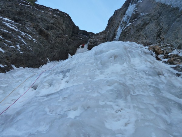 The Ribbon - fatter ice up higher. Lots of almost steep ice, too.    &...