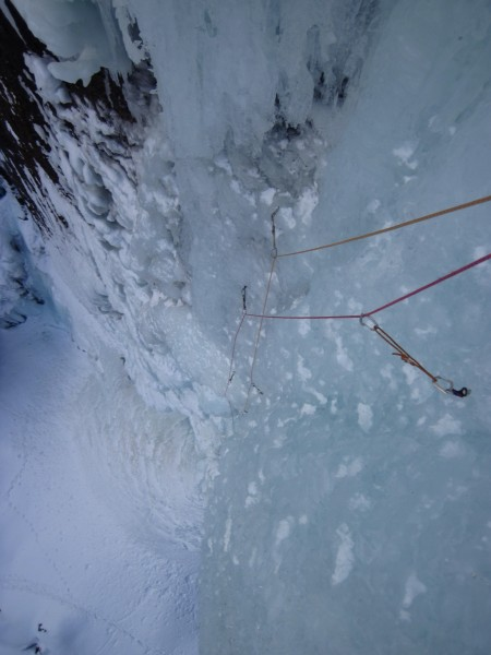 From above the steep stuff on the 2nd pitch. The angle was beginning t...