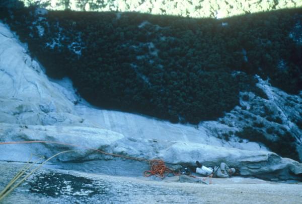 Looking down on Long Ledge...My favorite bivy in Yosemite.
