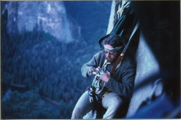Bill Denz, somewhere below the black cave on NA Wall