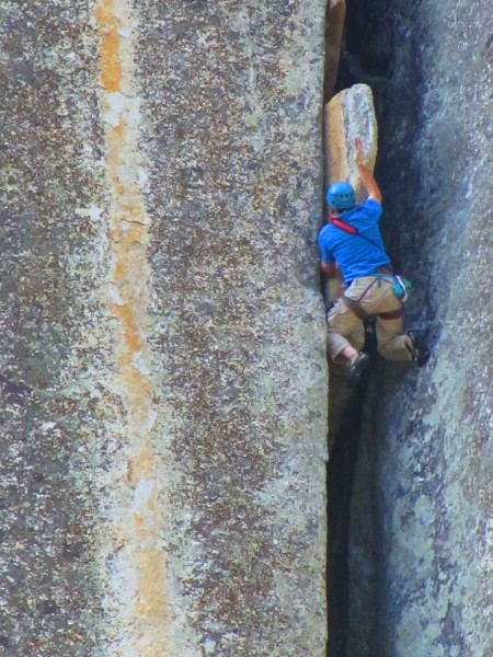 Tom on pitch 2 of entrance exam 5.9++