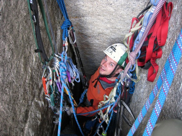Belay in the alcove