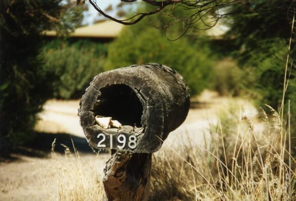 Aussie mailbox near the Grampians