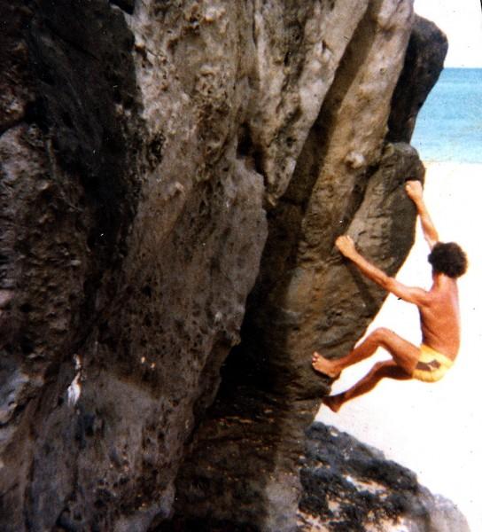 olaf beach bouldering Waimea Bay 1980