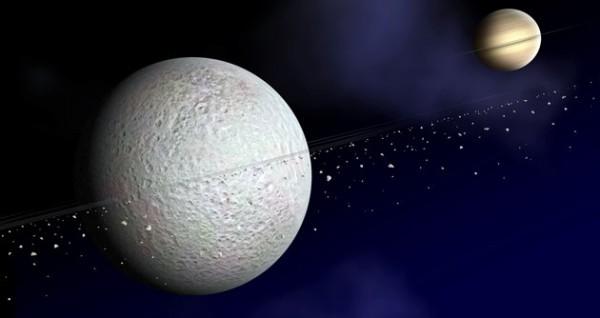 Saturn and Rhea