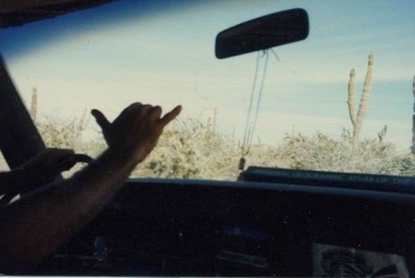 On the road to Punta Conejo, Baja Sur in the mid 90's  <br/>
