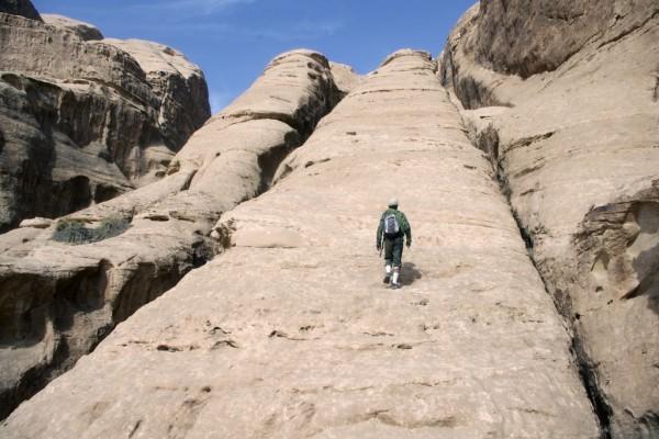 Beautiful slabs of white Rum sandstone, Wadi Rum, Jordan