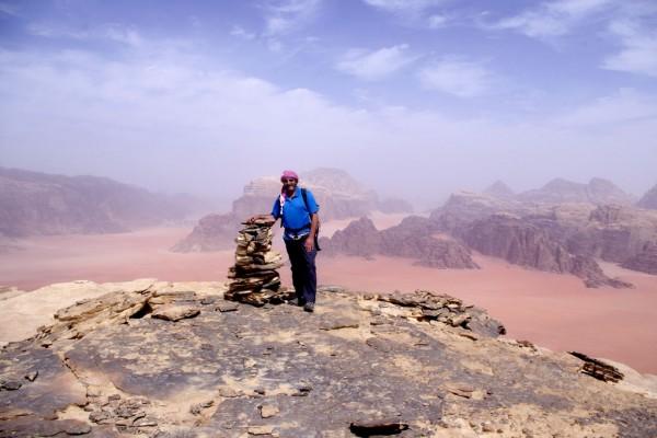 Summit of Jebel Khazali, 2012 <br/> Wadi Rum, Jordan
