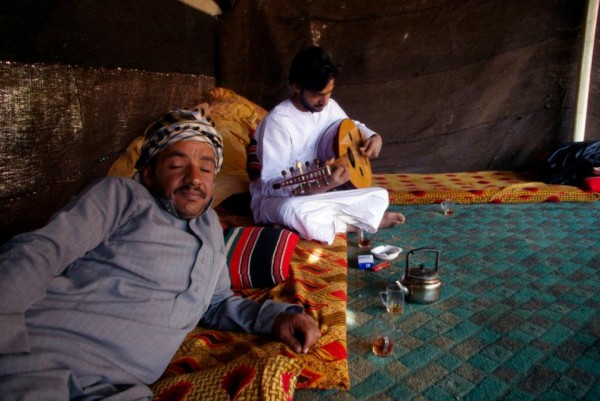 Bedouin tent in the Wadi Rum, Jordan
