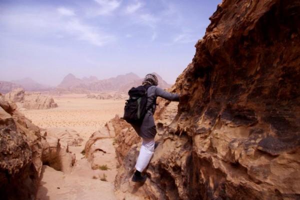 Scrambling on North Ridge of Jebel Burdah