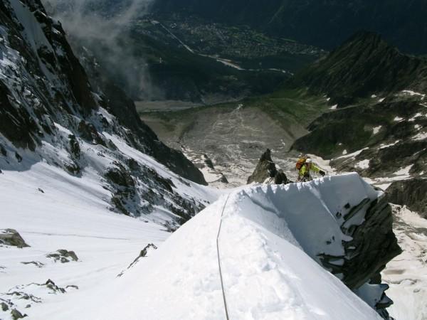 High above the Nant Blanc and Les Praz
