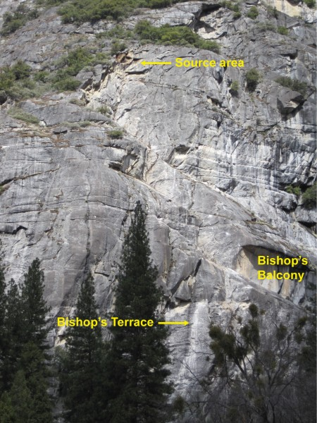 Overview of the 3-4 April 2012 Church Bowl rockfall