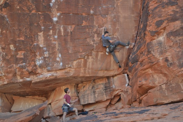 start of abandon ship 12a, fun heel hook.
