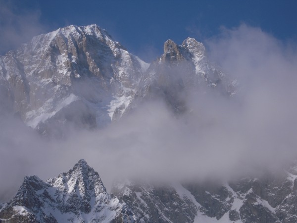 Freney face of Mt. Blanc, February 2011.  <br/>