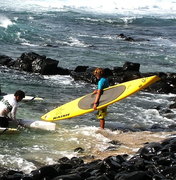 Kai Lenny launching at Kuau Cove, Maui <br/>