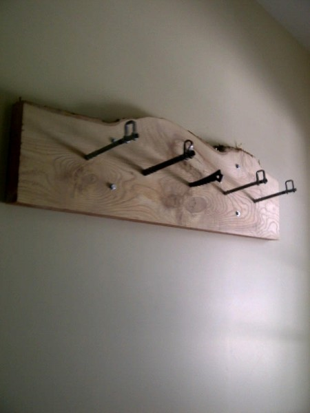 Coat Rack with old coonyard gear