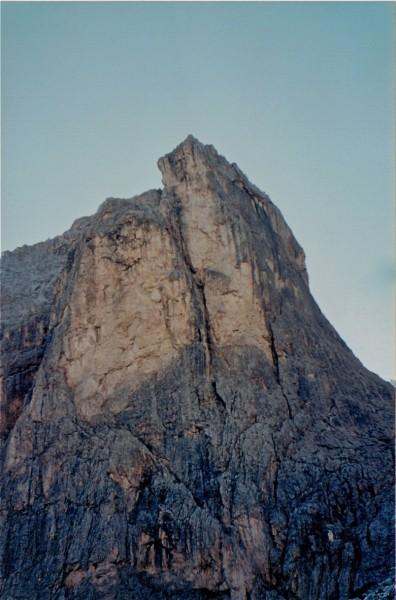 Punta Emma from the Refugio Vajolet.