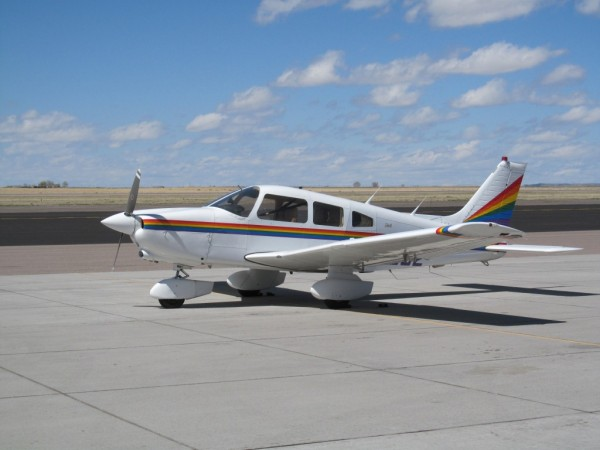 "Piper PA 28-236 ""Dakota"" on the ramp at Atlantic Aviation, Casper, WY."