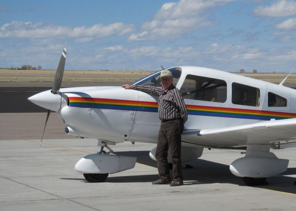 Brokedownclimber and N84602, on the ramp in Casper.