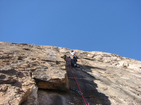 Looking up the flake on pitch four