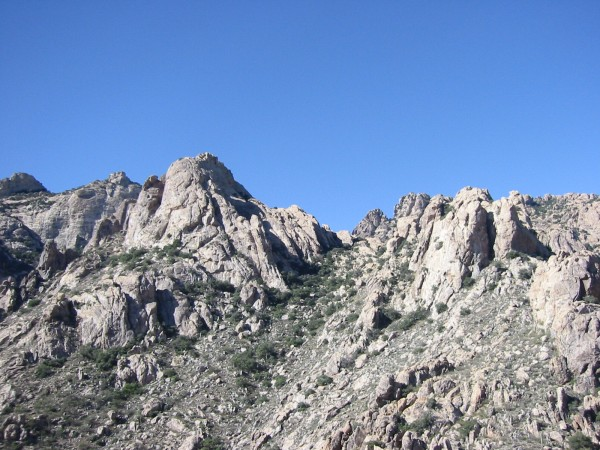 The view from the top of Table Dome towards Kitt Peak (I think!) There...