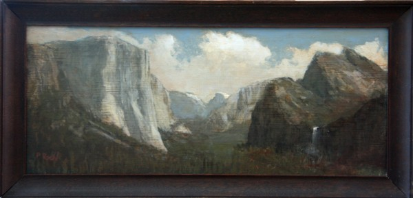The Valley, oil on panel 2012