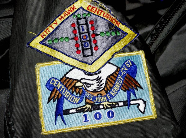 My centurion patches - 100 arrested landings on the aircraft carrier U...