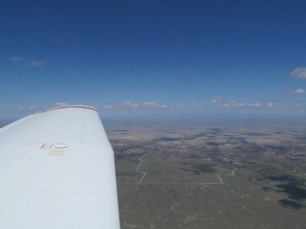 View from 9,500 feet; 6,000 feet agl (above ground level). Roc...