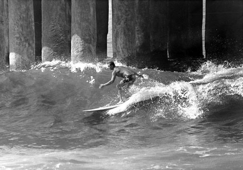 Greg Noll at Manhattan Beach Pier