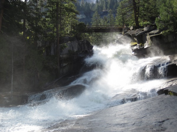 Above Vernal Falls. Use the bridge, don't wade this... (4/28/12).