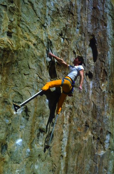 Hugh on Hueco Crank