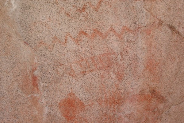 Some pictographs in the Stronghold